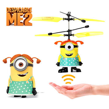 Despicable Me Minion Remote Control Helicopter-Red
