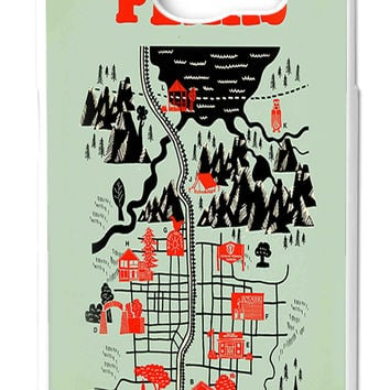 Twin Peaks Welcome To Twin Peaks Map Samsung Galaxy S6 Cases - Hard Plastic, Rubber Case