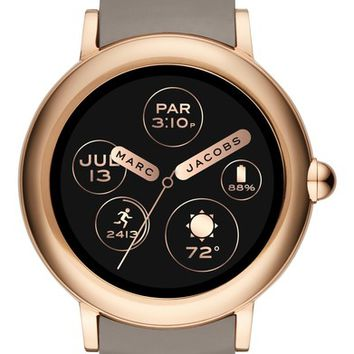 Marc Jacobs Riley Silcone Strap Smart Watch, 44mm | Nordstrom