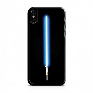 Stars Wars lightsaber blue iPhone X Case