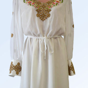 "Woman dress of embroidery "" lily"" of Carpathians"