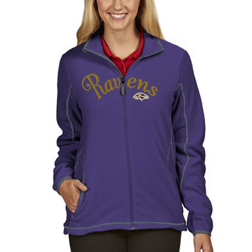 Baltimore Ravens Antigua Women's Ice Full Zip Jacket - Purple