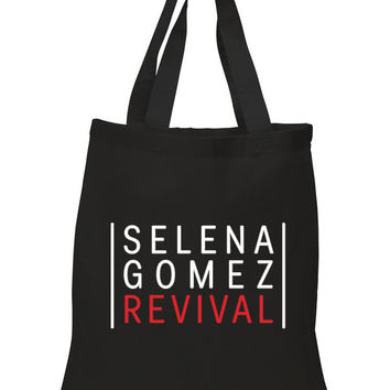 "Selena Gomez ""Selena Gomez - Revival"" Red 100% Cotton Tote Bag"