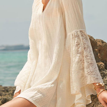 Summer Boho Bell Lace Sleeve Beachwear