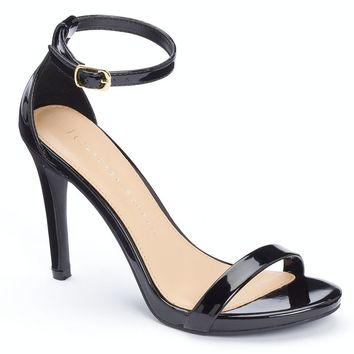LC Lauren Conrad Women's Ankle Strap Dress Heels (Black)