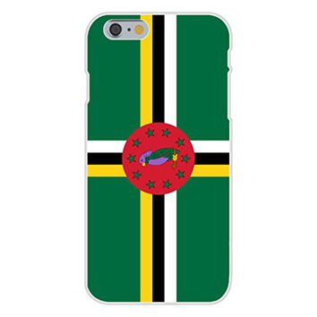 Apple iPhone 6 Custom Case White Plastic Snap On - Dominica - World Country National Flags