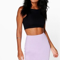 Aaoife Basic Jersey Mini Skirt | Boohoo