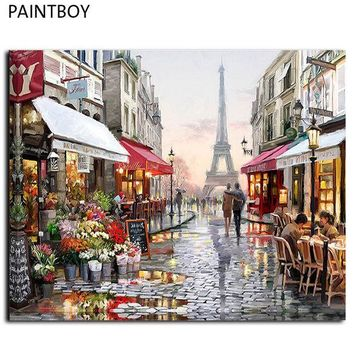 ESBONHS Oil Painting Frameless Picture Paintng By Numbers Handpainted Canvas Painting Home Decoration For Living Room GX4547 40*50cm