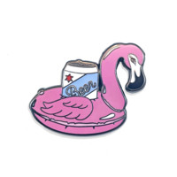 Flamingo Beer Enamel Pin