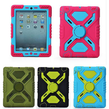 New Original 3D Silicon Spider man Duty Waterproof Dust/Shock Proof with stand Tablet cover case for apple iPad 2/3/4 case