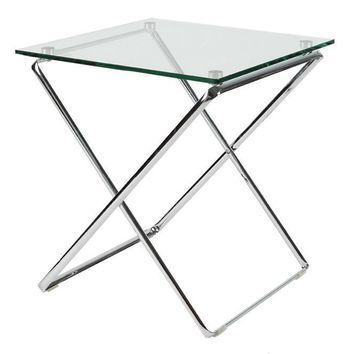 "Jason Side table 7/16"" tempered clear glass top"