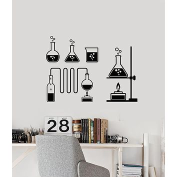 Vinyl Wall Decal Tube Bubbles Science Chemistry Laboratory School Stickers Mural (g1640)