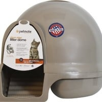 Booda Dome Cleanstep Cat Box, Brushed Nickel