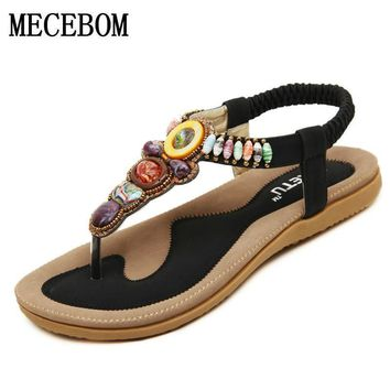 2017 Summer Flat Sandals Ladies Bohemia Beach Flip Flops Gladiator Women Shoes Sandles platform Zapatos Mujer Sandalias 148A5W