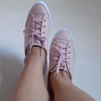 converse ctas gemma low leather evening sand gold exclusive hers trainers