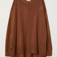 Fine-knit Sweater - Dark orange melange - Ladies | H&M US