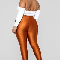Curves For Days Leggings - Rust