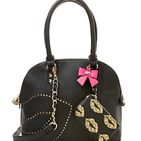 FIRST KISS DOME SATCHEL: Betsey Johnson