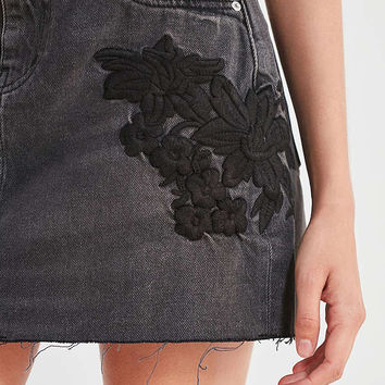 BDG Embroidered Denim Mini Skirt | Urban Outfitters