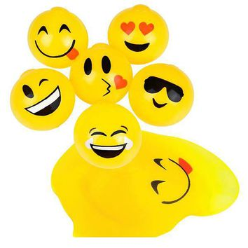 yellow emoji splat ball Case of 144