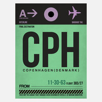 I liked this design on #Fab. CPH Copenhagen Baggage Tag