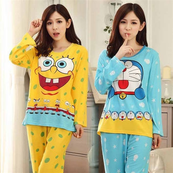 New Adults Cotton Pajamas Pyjama Animal Suits Cosplay Cute SpongeBob Adult Winter Warm Cartoon Animal Sleepcoat Pajama Sets = 1930538692