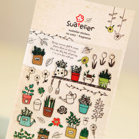 1 x SONIA Gardening paper sticker DIY decorative sticker for album scrapbook kawaii stationery diary sticker
