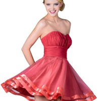 Meier Women's Short Strapless Sweetheart Homecoming Prom Party Dress