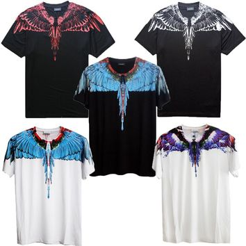 Marcelo Burlon T Shirt Clothing RODEO MAGAZINE Men Women Fashion Wings T-Shirt High Quality Marcelo Burlon T-Shirt