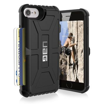 UAG iPhone 8 / iPhone 7 / iPhone 6s [4.7-inch screen] Trooper Feather-Light Rugged Card Case [BLACK] Military Drop Tested iPhone Case