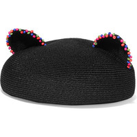 Eugenia Kim - Caterina beaded woven hemp beret
