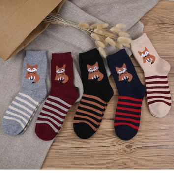 Fox Animal Funny Socks
