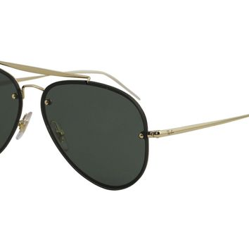 Ray Ban Blaze Aviator RB3584N 3584/N RayBan 9050/71 Gold Pilot Sunglasses 58mm