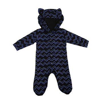 Lovely ears Baby Clothing Cotton Infant Baby Boy Animal Hooded Romper Long Sleeve Jumpsuit Outfits Clothes