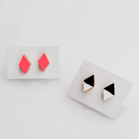 Leather Triangle Studs