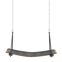 RETIRED WINE BARREL SWING | Wooden, Stave, Recycled | UncommonGoods
