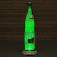 Vintage Mountain Dew 1970's Soda Bottle Lamp/Bar Light /  VIDEO DEMO-Intense Sparkle and Glow Glass Crystals on Inside Surface