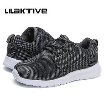 Solid boys outdoor running sneakers girls school shoes kids breathable traveling shoes  mesh trainers boys sport shoes