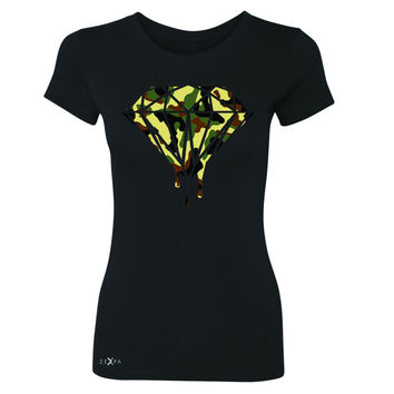 Zexpa Apparel™ Soldier Camo Diamond Dripping Bleeding Women's T-shirt Cool  Tee