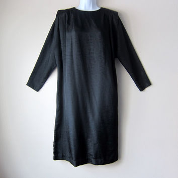 80s Trad Goth Dress -- Witchy Avante Garde Alligator Print New Wave Fashion