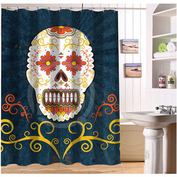 W522#63 Custom Cool Pirate And Skull r2 Modern Shower Curtain bathroom Waterproof  Free Shipping  #fj63