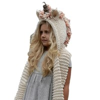 Super cute knit unicorn hat for kids and teens