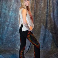 Rainbow Dancer tie dye Yoga pants, Festival dance, Hippie clothes, dance, raver, yoga tights, yoga leggings