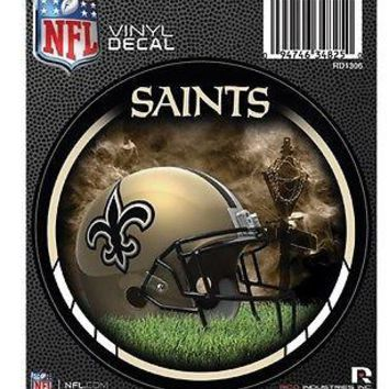 "New Orleans Saints NFD 4"" Round Auto Decal Bumper Sticker Emblem NFL Football"