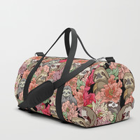Because Sloths Duffle Bag by huebucket