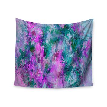 "Ebi Emporium ""The Nexus 5, Pink Teal"" Teal Pink Painting Wall Tapestry"
