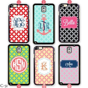Monogram Samsung galaxy note 4 cover Custom iPhone 6 case S3 S4 S5