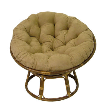 International Caravan Bali 42-inch Rattan Papasan Chair with Cushion | Overstock.com