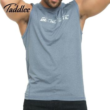 Taddlee Brand Men's Tank Top Sports Running Tee Shirts Sleeveless Gasp Fitness Stringer Singlets Muscle Bodybuilding Undershirts
