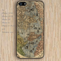 iPhone 5s 6 case cartoon Old world map dream catcher life colorful phone case iphone case,ipod case,samsung galaxy case available plastic rubber case waterproof B564
